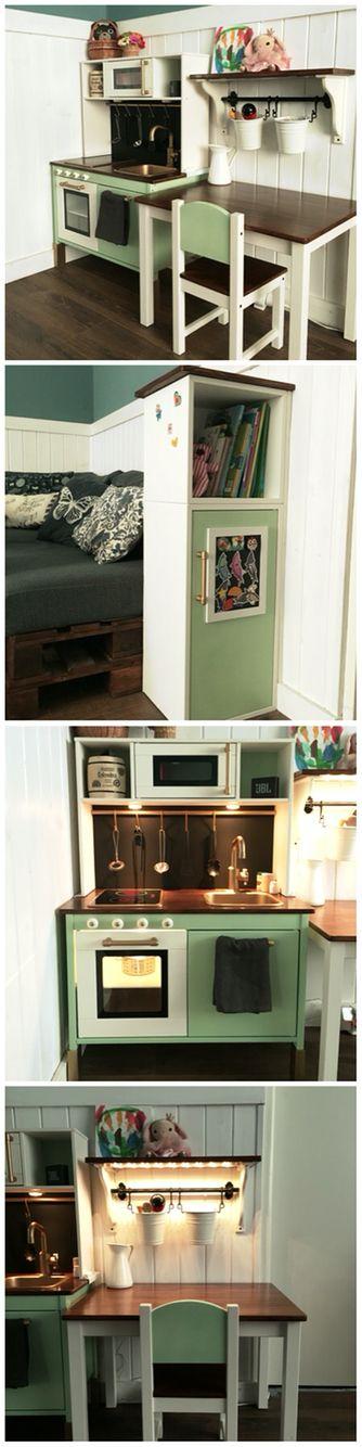 ikea play kitchen hack ikea hacker pinterest. Black Bedroom Furniture Sets. Home Design Ideas