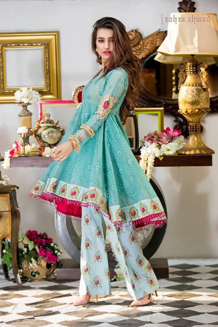 3a899095b0 Zahra Ahmad Traditional Colorful Dresses 2017-18 With Price ...