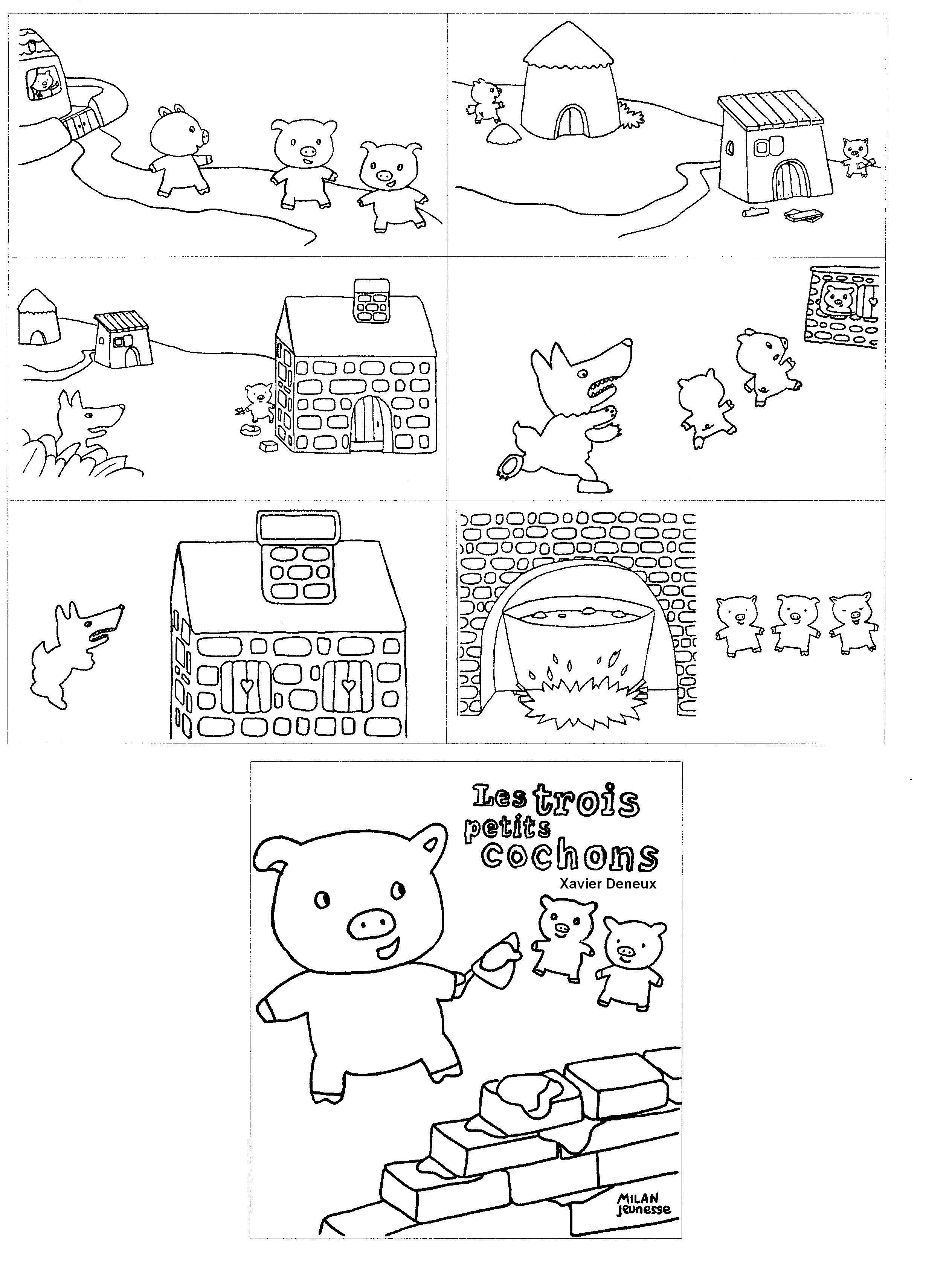 6+ Coloriage des 6 petits cochons ideas  Coloriages Gratuits