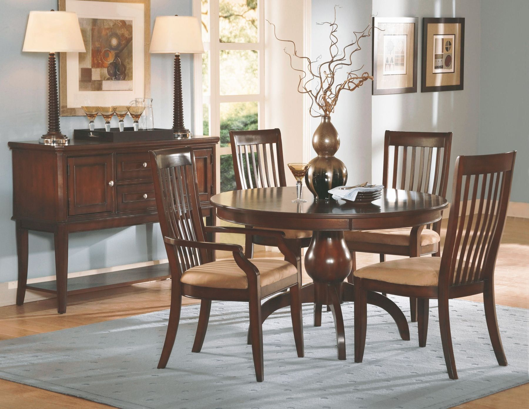 Round Dining Room Wooden Tables And Chairs  Dining Room New Retro Dining Room Tables Review