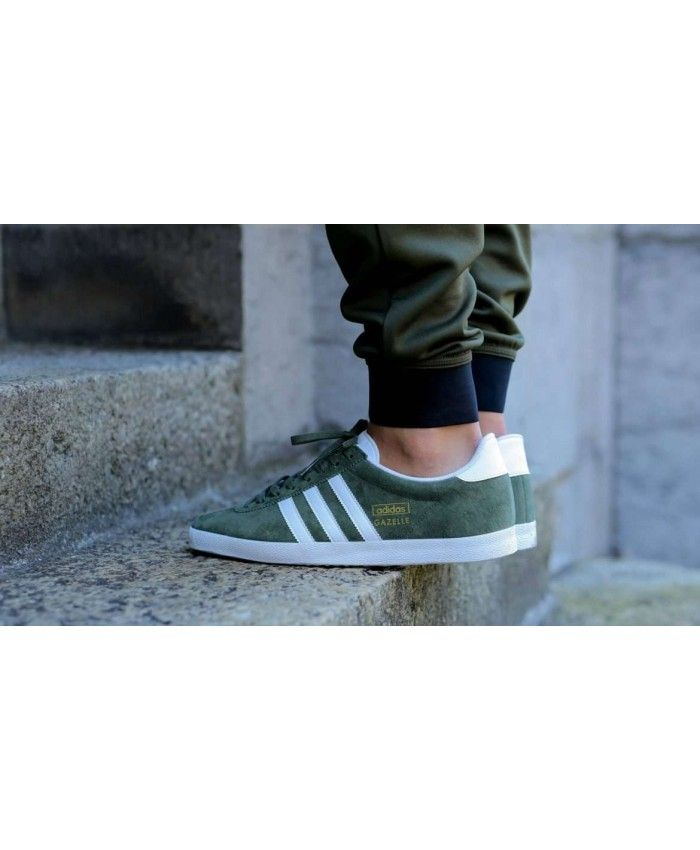 Adidas Gazelle OG army verde zapatos adidas Gazelle hombre  Pinterest