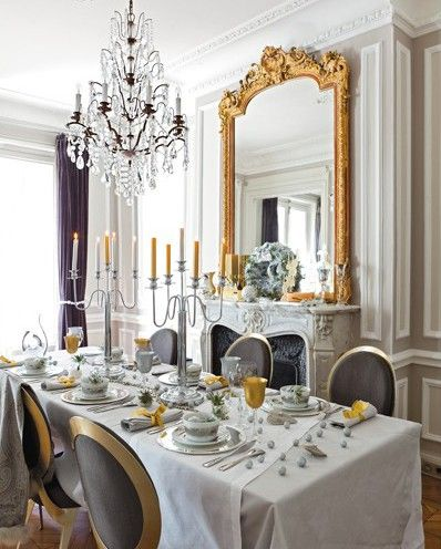 Dining Room Holiday Christmas Gary Silver Decorating Ideas Gold Dining Room French Elegant Dining Room My French Country Home