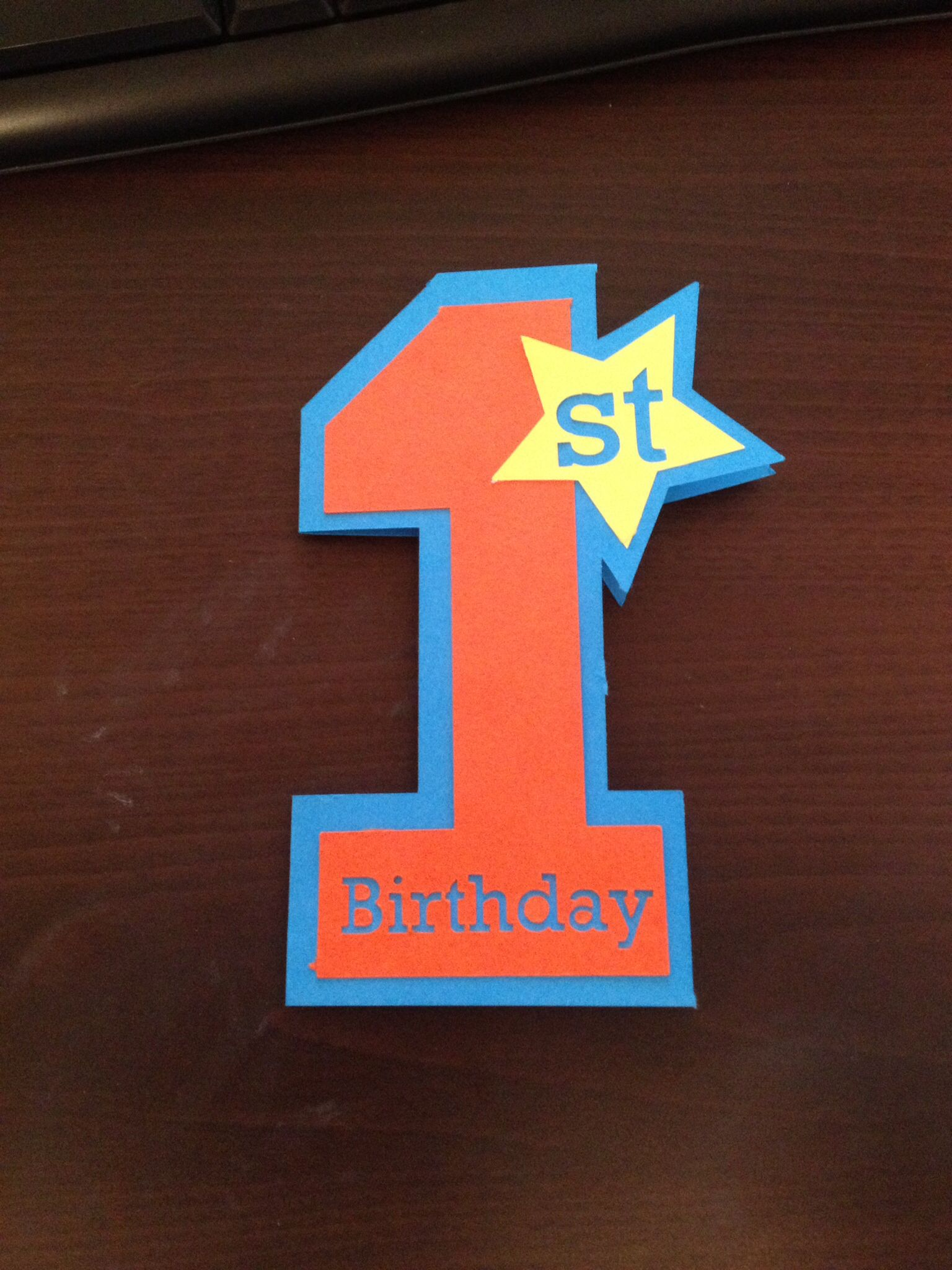 First birthday card simple 1st cameo cut out blue orange yellow for first birthday card simple 1st cameo cut out blue orange yellow for baby boy bookmarktalkfo Choice Image
