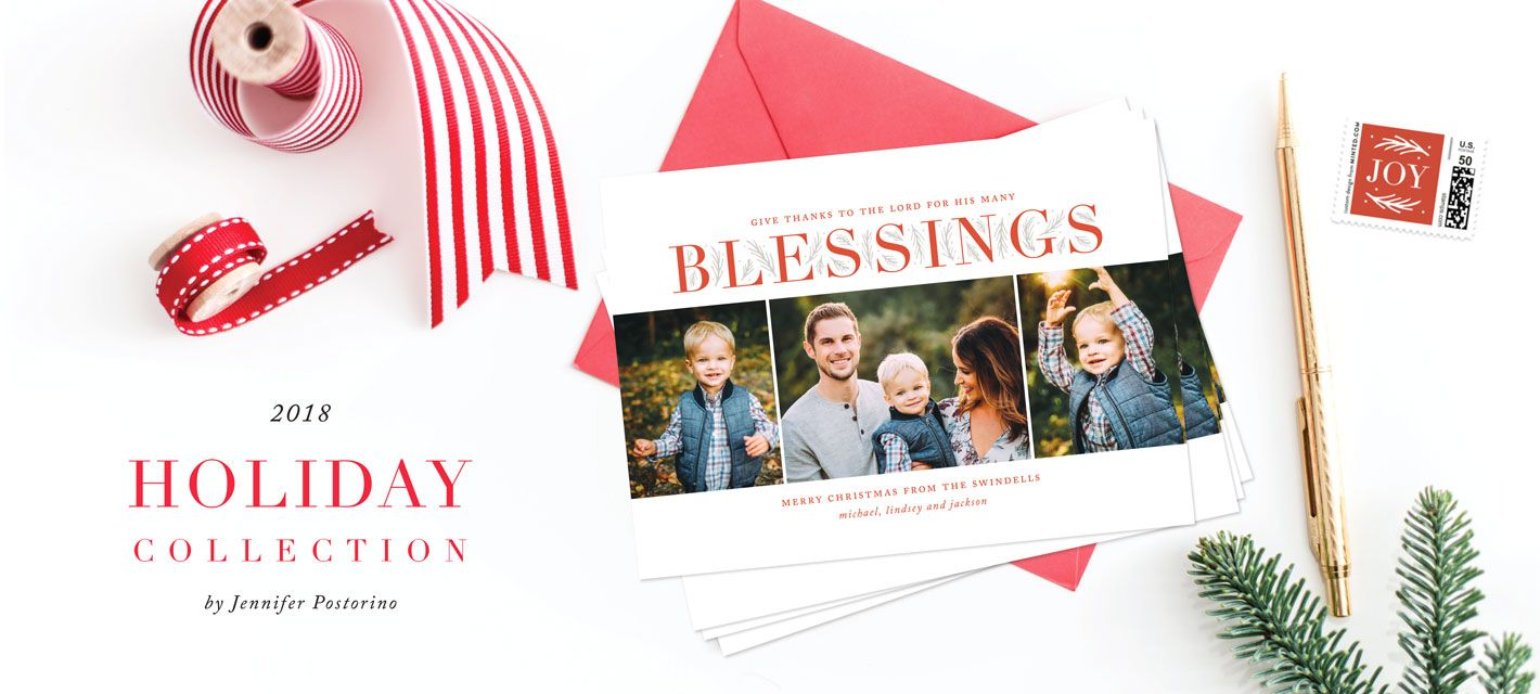 A multiphoto christmas card with bold type festive