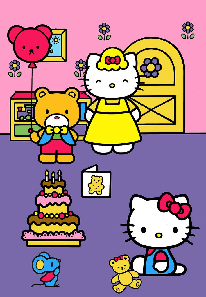 A Day In The Life Of Kitty White 17 Kitty S Birthday Party Hello Kitty Colouring Pages Hello Kitty Christmas Hello Kitty Coloring