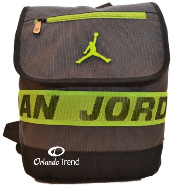 d7aac9ee5459 ... Nike Air Jordan Black and Green Preschool Boy Backpack 7A1509-333 at  OrlandoTrend.com ...