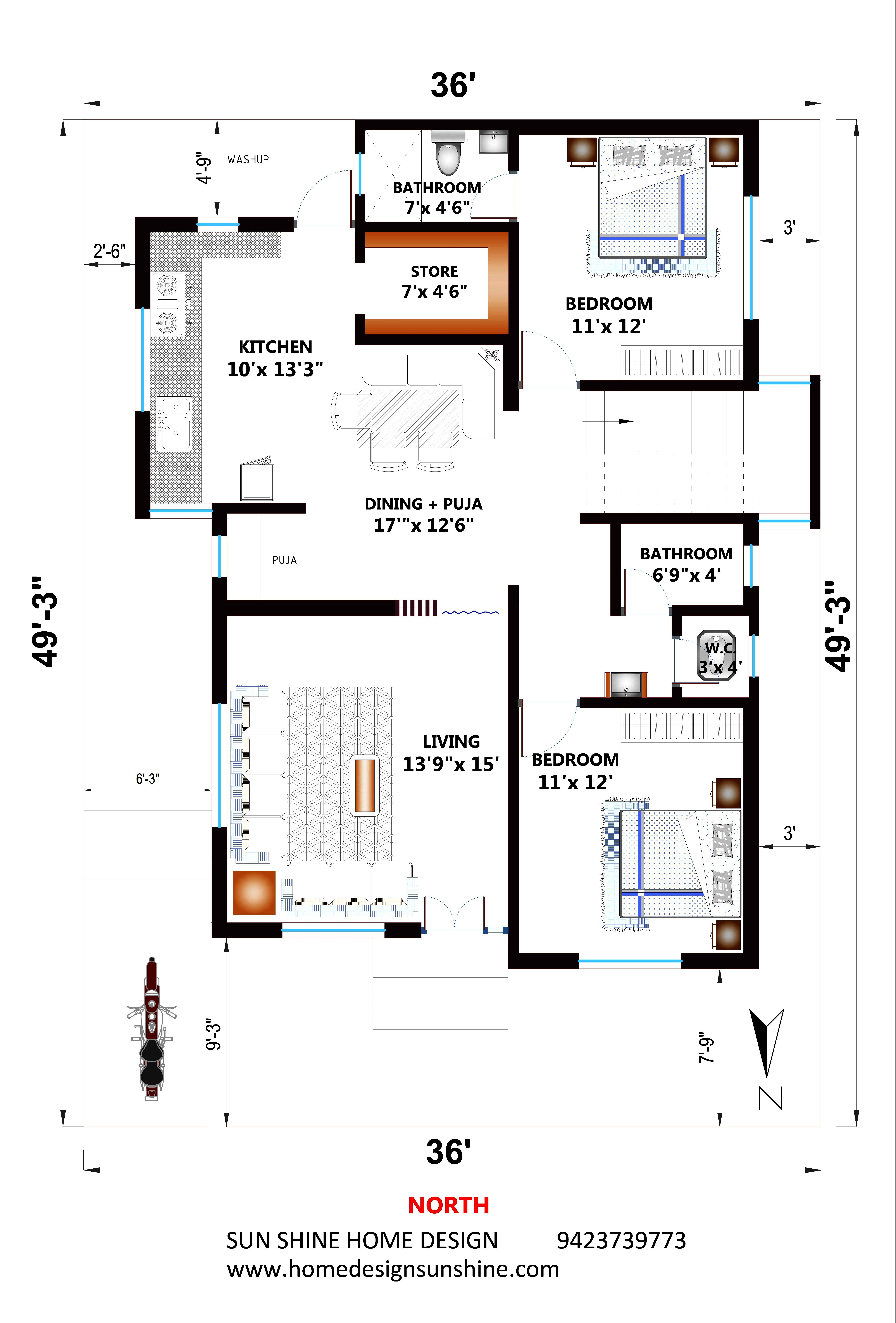 Pin By Sunshine Home Design On Home Plan 20x40 House Plans