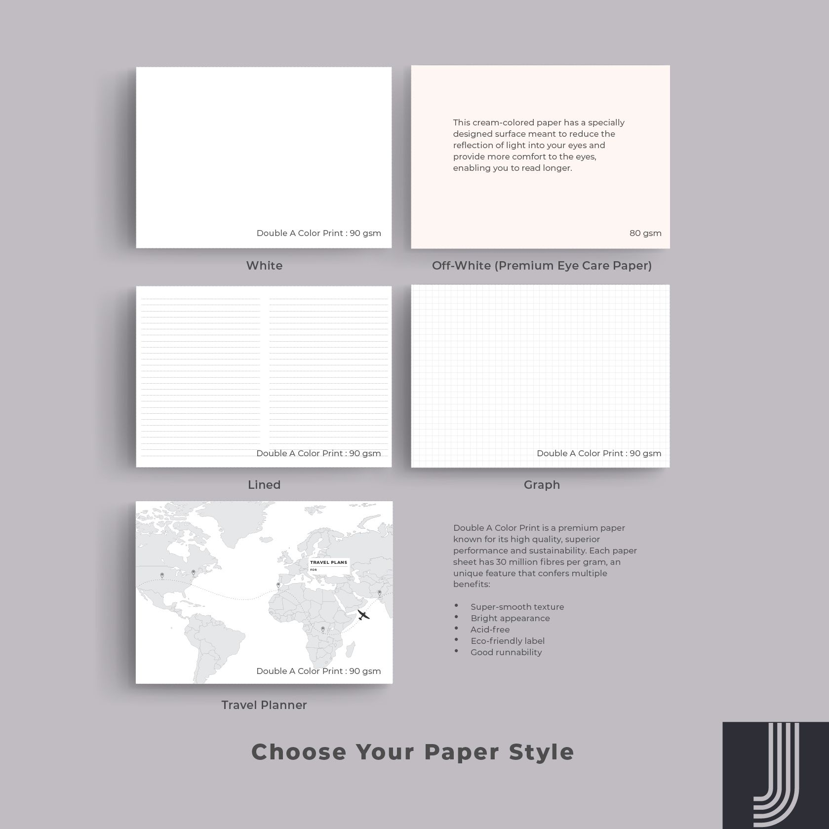 Order a bespoke journal and choose between blank white