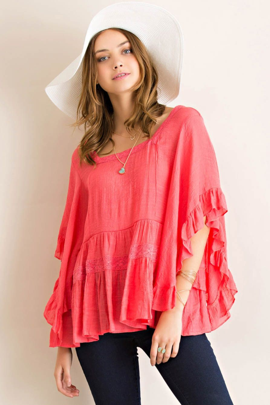 94dccbabae0c Boat Neck Peasant Blouse | Casual as Usual | Peasant blouse, Blouse ...