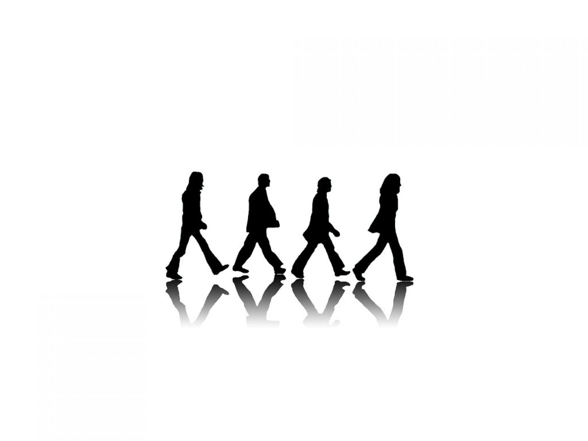 ビートルズのアビーロードの影バージョン壁紙
