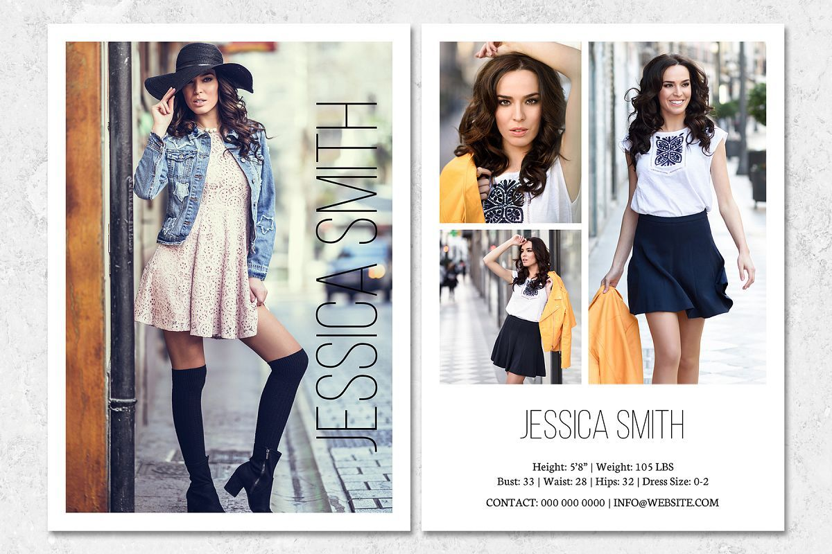 Fashion Model Comp Card Template With Regard To Free Comp Card Template Sample Business Template Model Comp Card Fashion Fashion Models