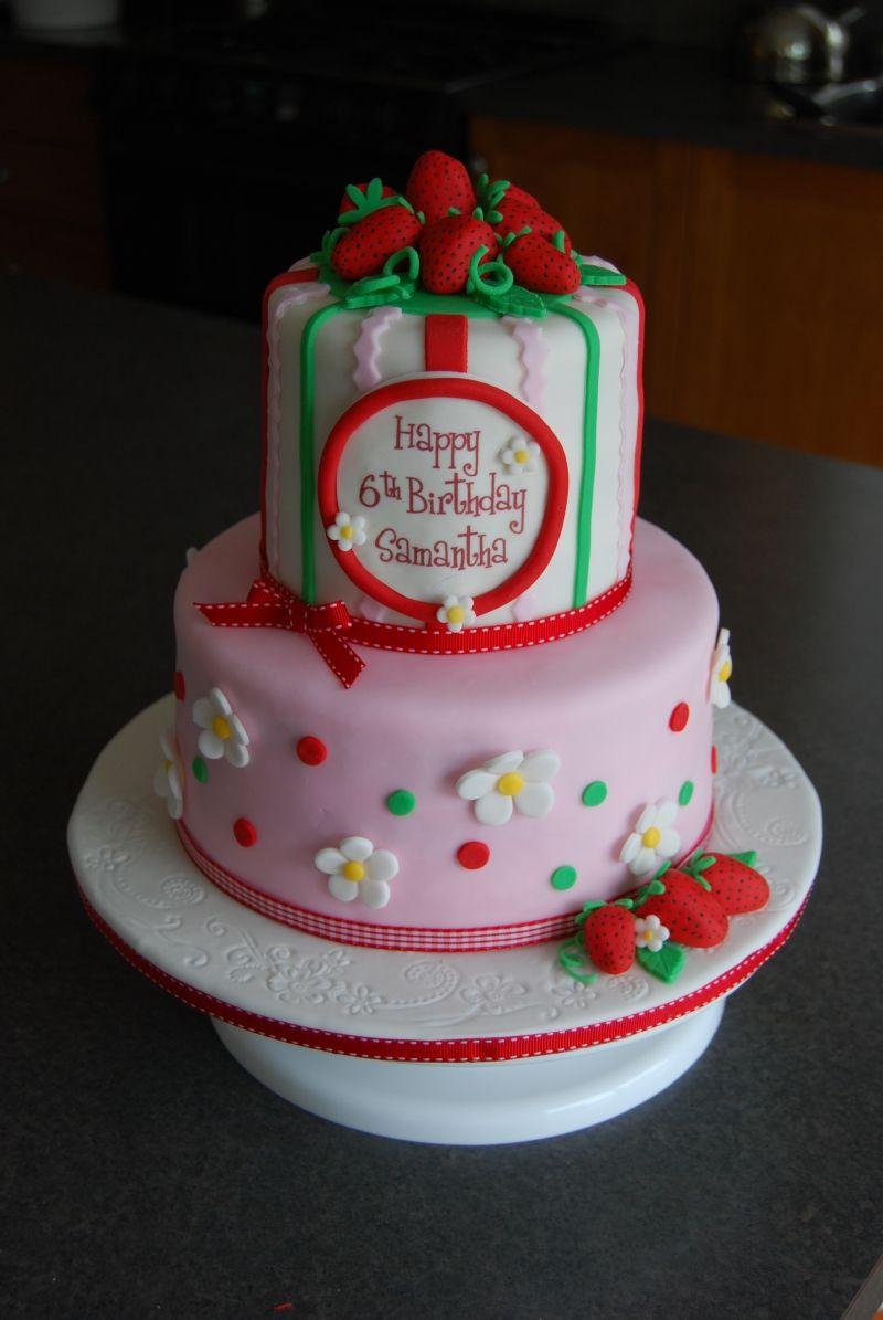 Beautiful Strawberry Shortcake Cake Strawberry Shortcake Birthday Strawberry Shortcake Party 6th Birthday Cakes