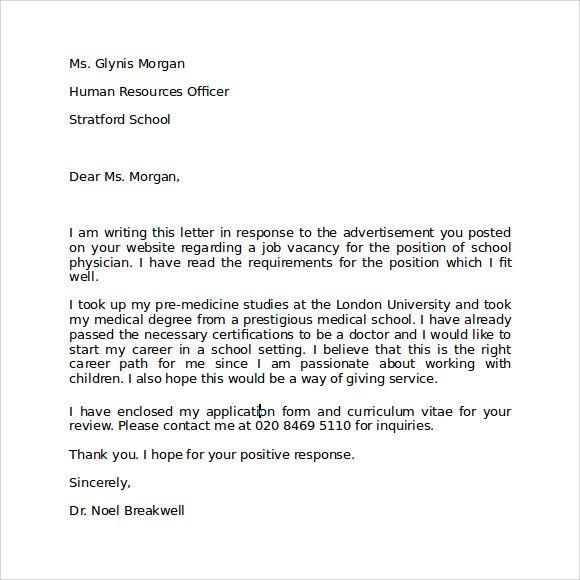 Interest letter letter instrest Letter of intent, Letter sample