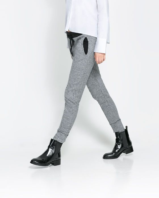 ZARA - WOMAN - GREY VELOUR TROUSERS