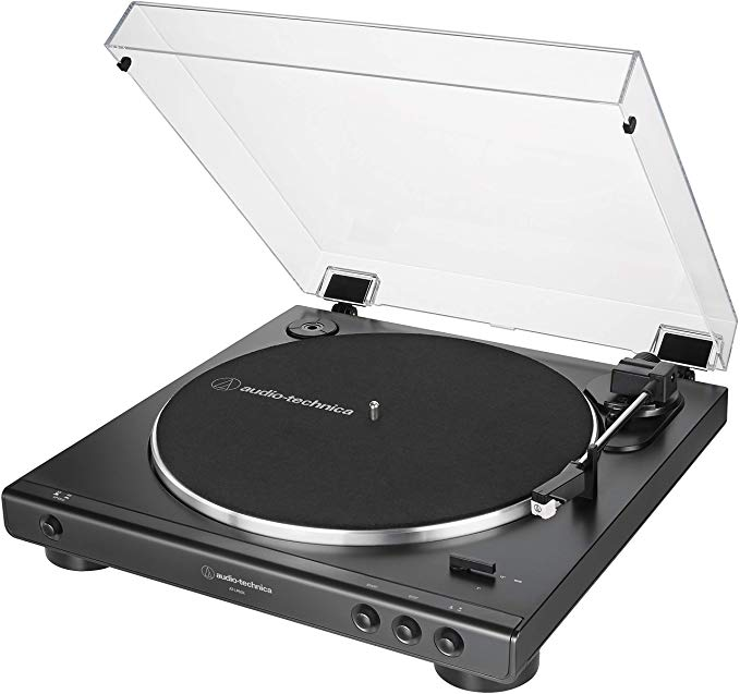 Amazon Com Audio Technica At Lp60x Bk Fully Automatic Belt Drive Stereo Turntable Black Hi Fidelity Audio Technica Turntable Audio Technica Stereo Turntable