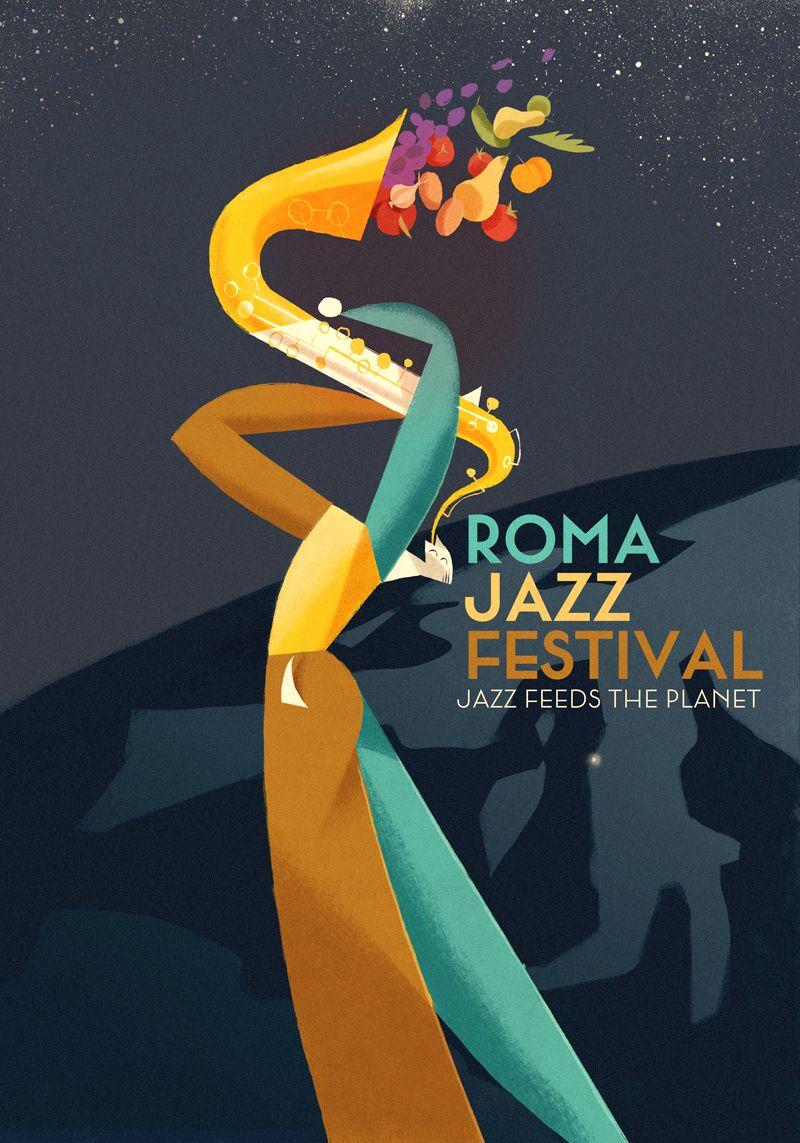 "Poster for ""Roma Jazz Festival"" (Roma)Riccardo Guasco 2015"