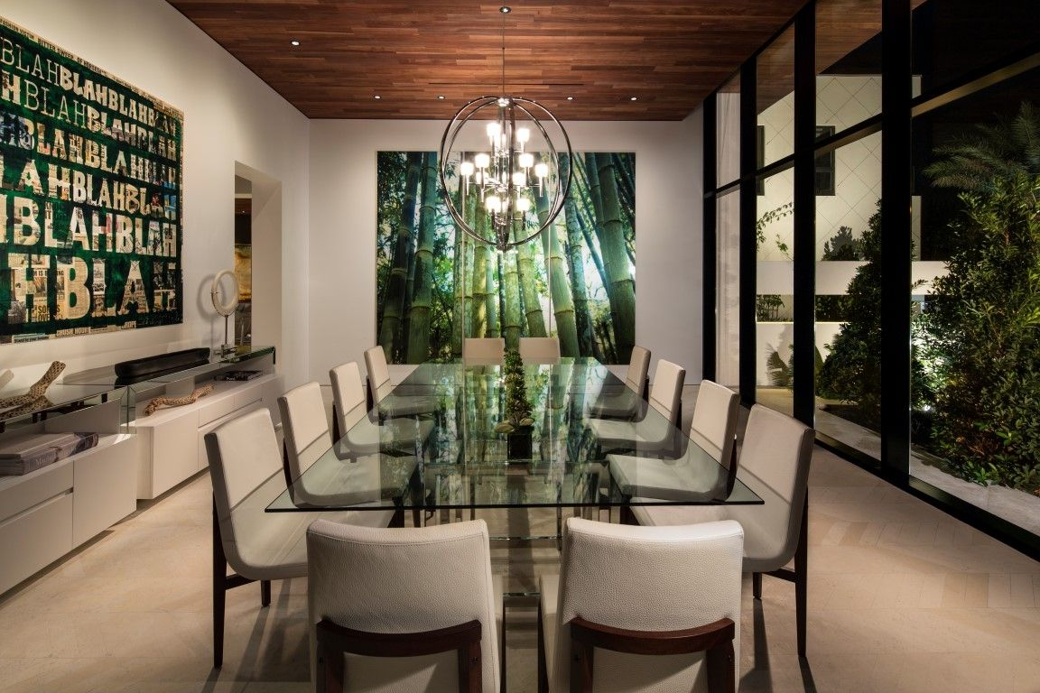 Dream Homes Luxury Dining Room Home, Modern Dining Room Furniture Miami Beach