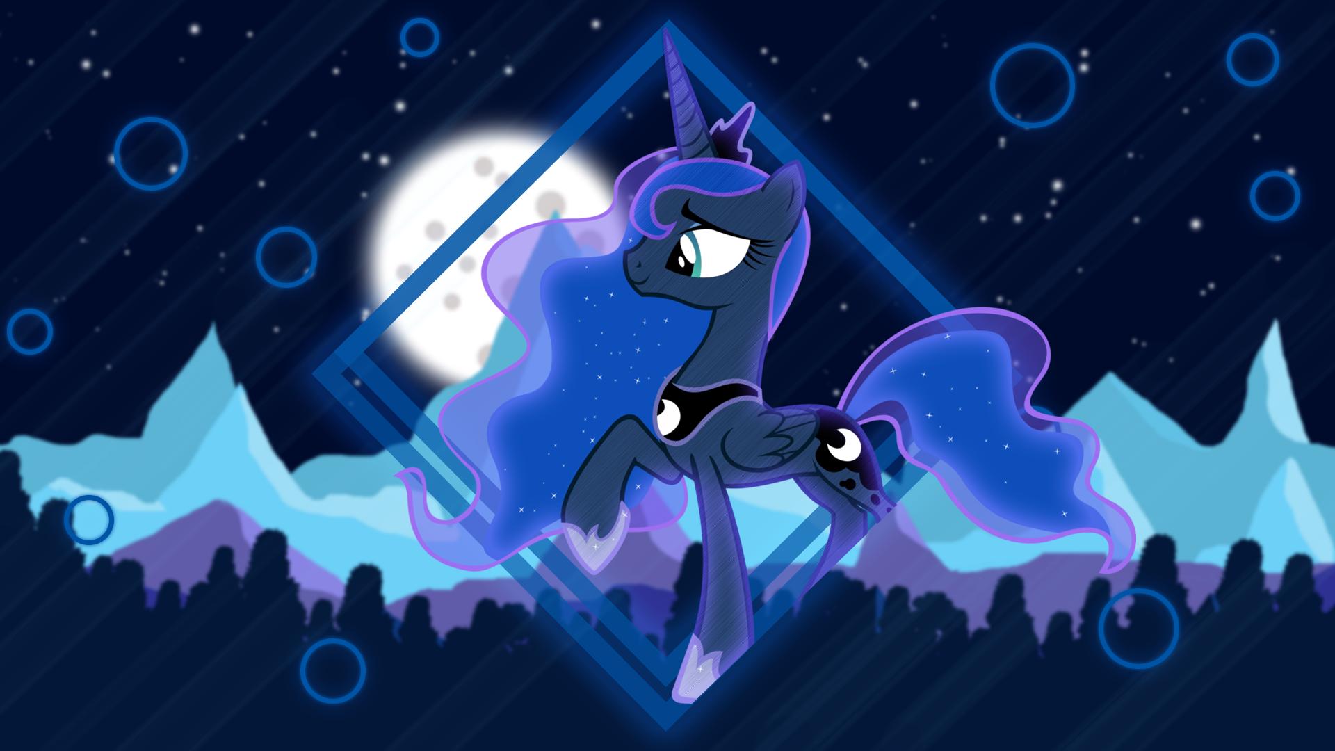 Mountains Night Princess Luna Wallpaper Princess Luna Princess Twilight Sparkle Wallpaper
