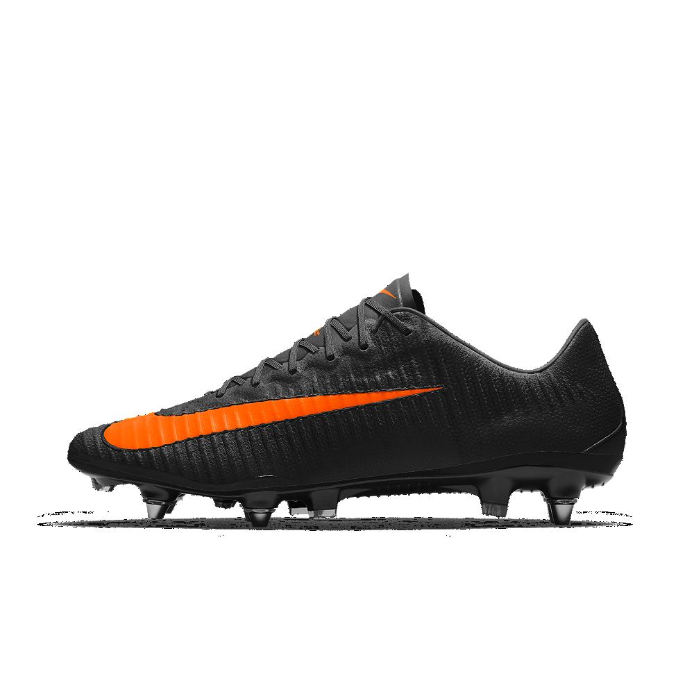 reputable site 7a3e7 0dc7c Nike Mercurial Vapor XI Tech Craft FG iD Men's Firm-Ground Soccer Cleats  Size 12.5 (Orange)