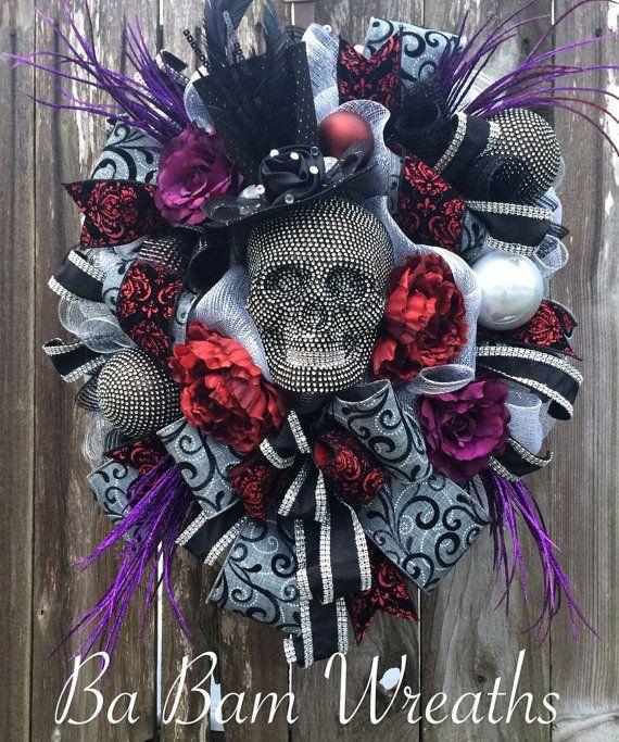 Mr Sexy Bones, Skeleton Wreath, Skeleton Decor, Halloween Wreath - sexy halloween decorations