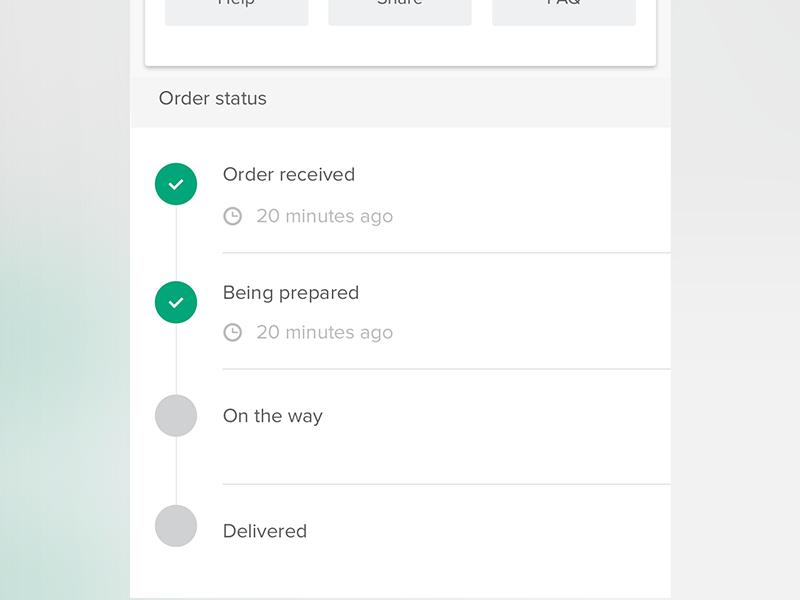 Silvva, Order Status on Android Status, Web design, Order