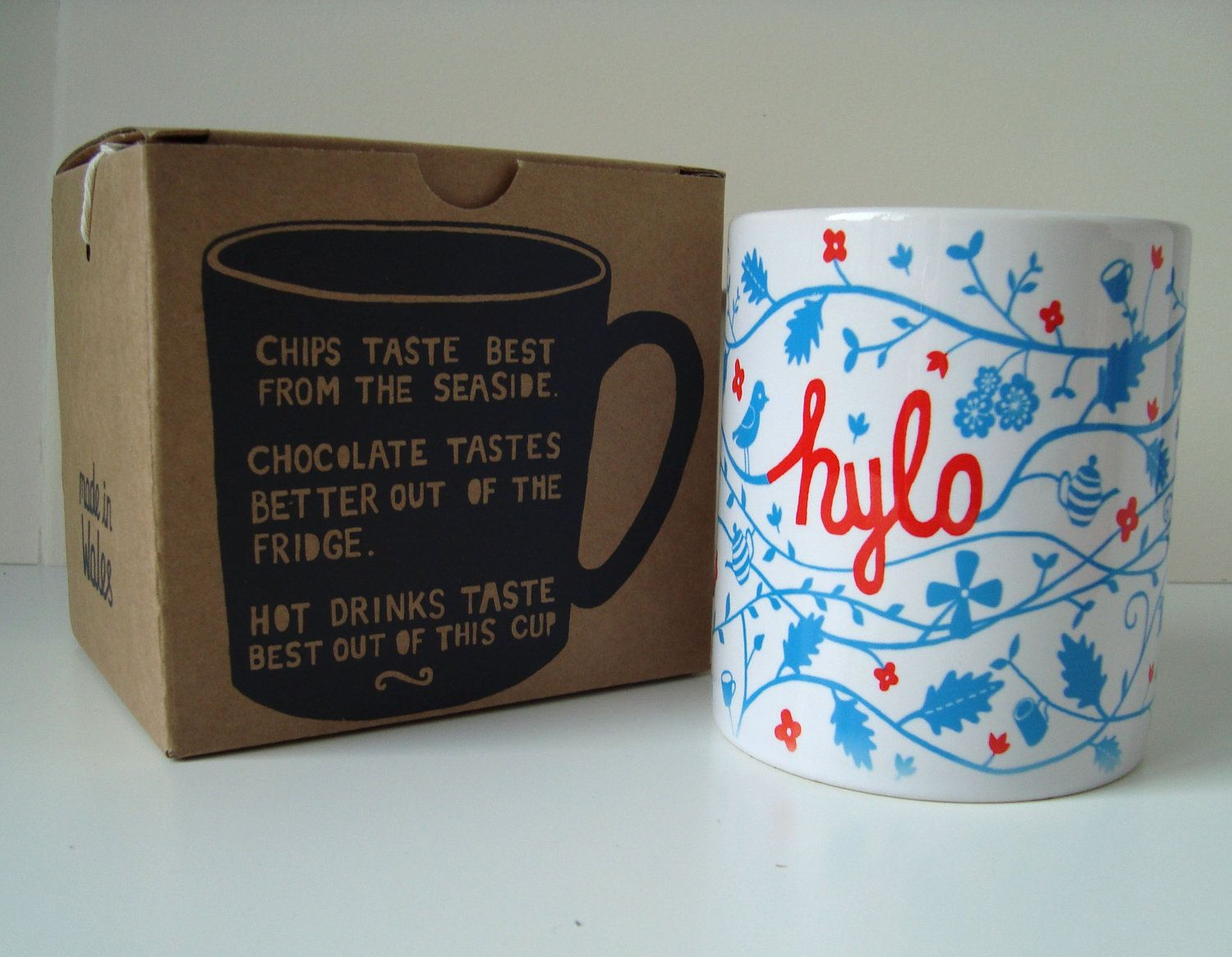 Welsh Language Mugs. NEW... with Screen printed Boxes.Tea or Coffee. $14.00, via Etsy.