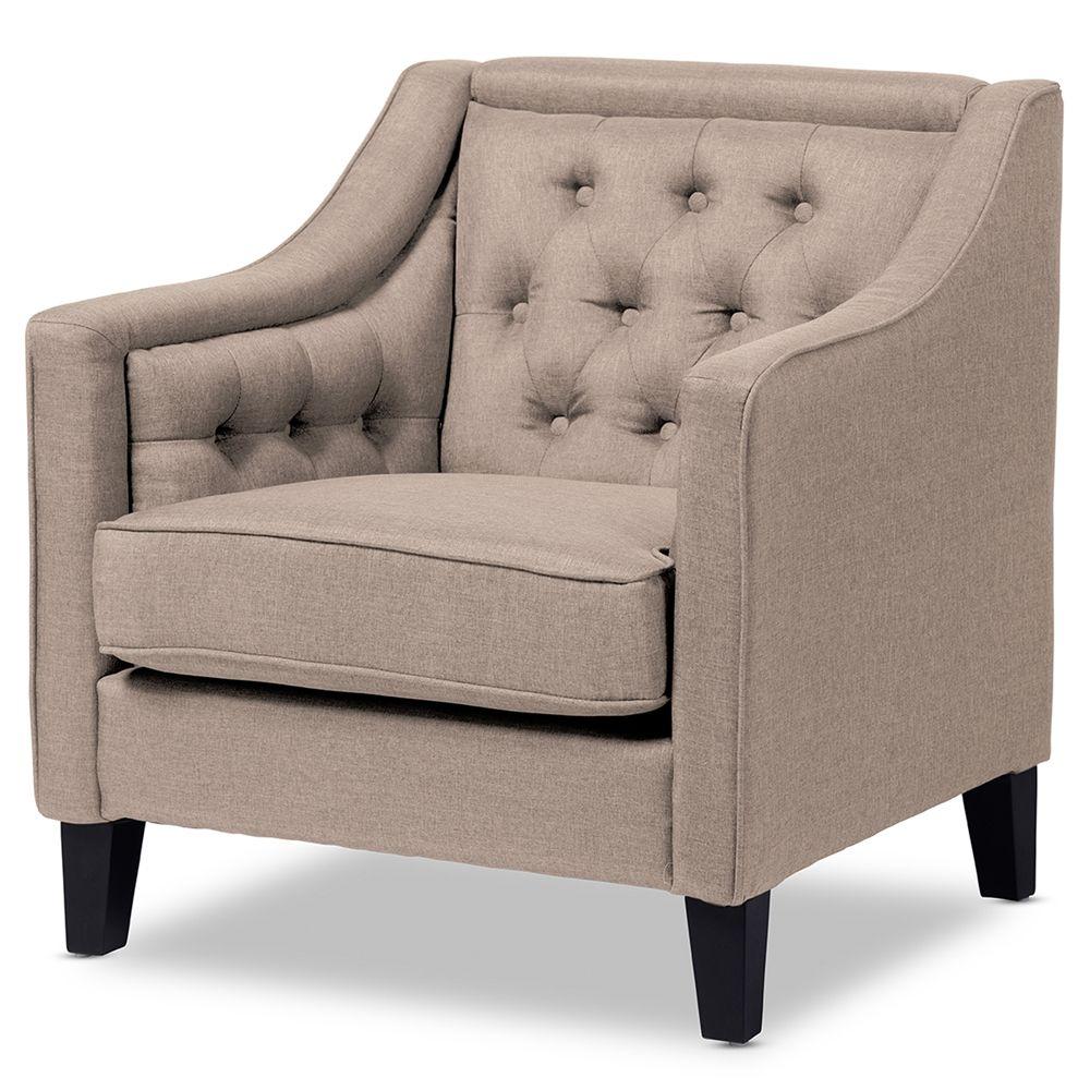 Beige modern armchair -