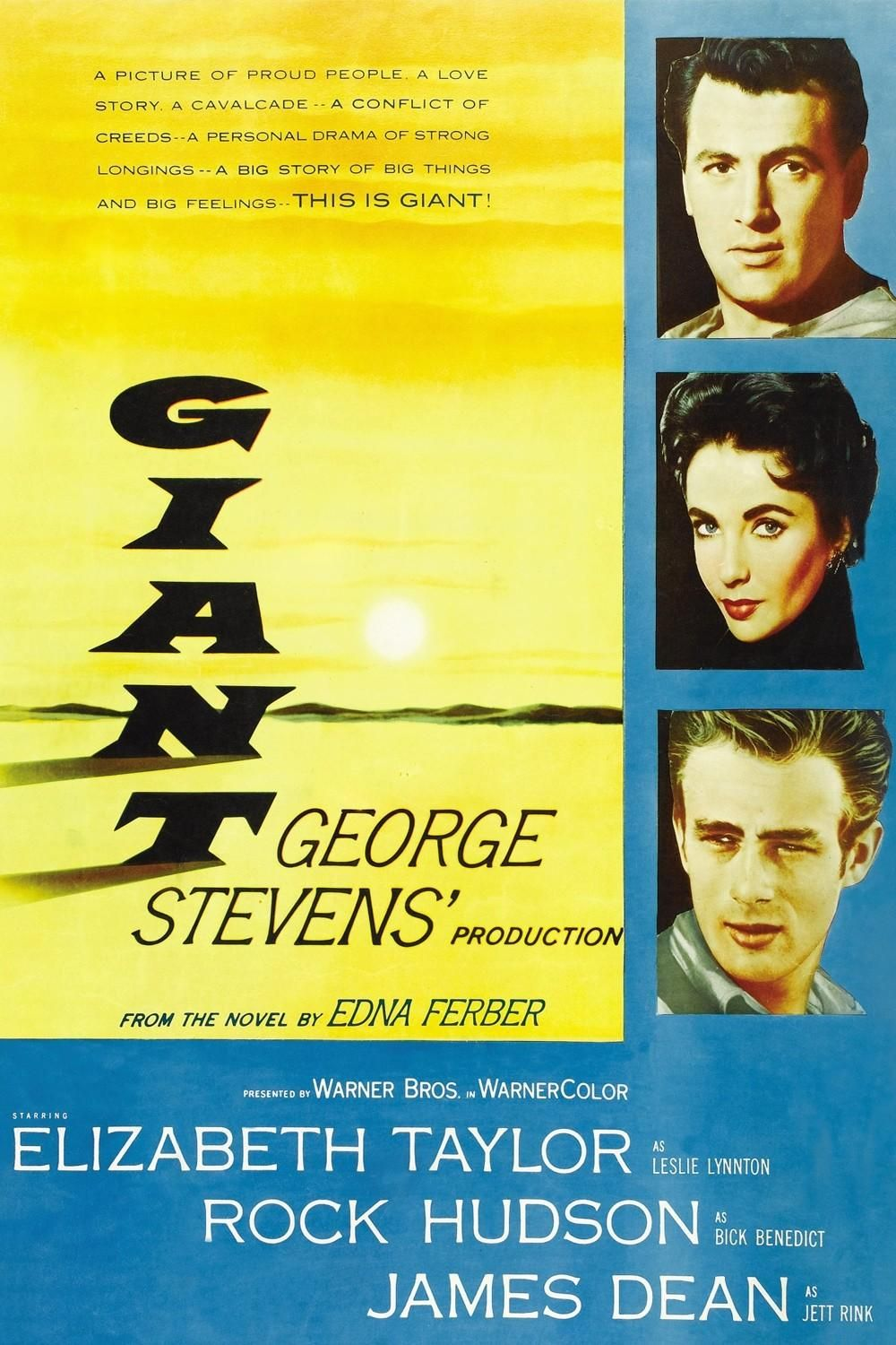 Giant (1956) - poster | Giant (1956) | Classic movie posters, Old movie posters, Movie posters