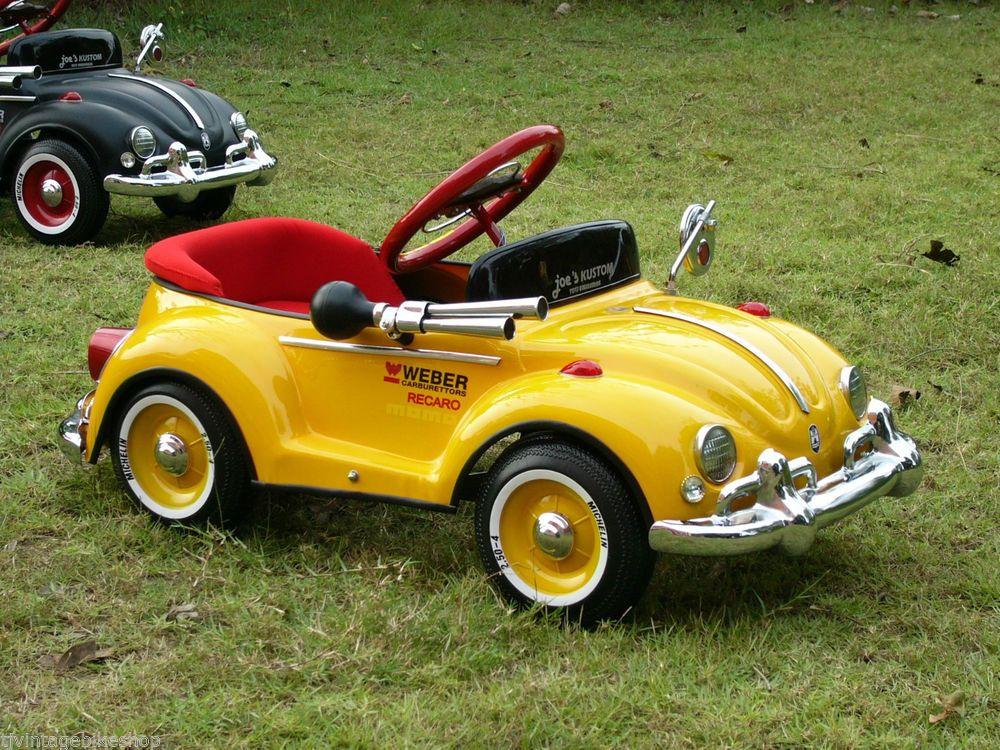Yellow Mustang Pedal Car