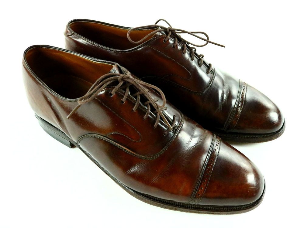 "JOHNSTON & MURPHY "" Crown Aristocraft "" Men's Dress Shoes 9.5M ( Made in U.S.A )"