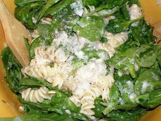 chicken, spinach & pasta