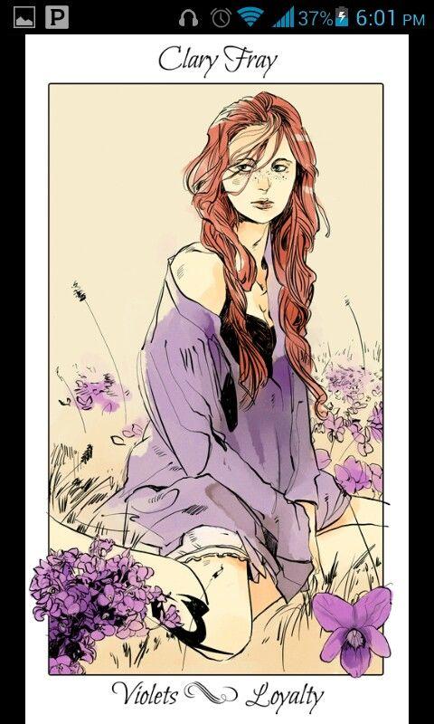 Clary's flower card