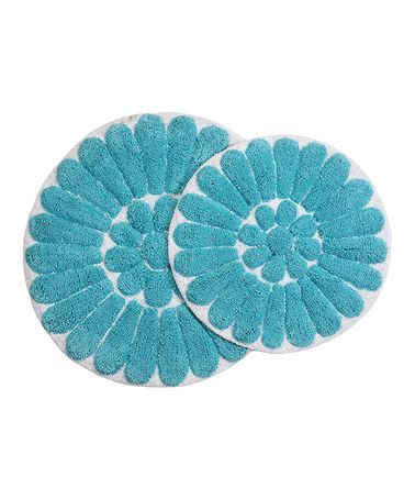 Look What I Found On Zulily Aqua Bursting Flower Bath Rug Set By - Aqua bathroom rug sets for bathroom decorating ideas