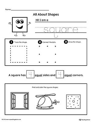 All About Square Shapes | Shape worksheets for preschool ...