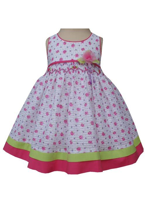 51d79dcda51 A Basket of Pink Roses Baby Girls Dress Sleeveless--Carousel Wear - 2