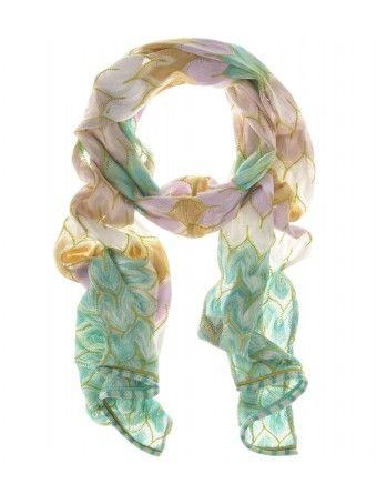 Missoni leaf knit scarf