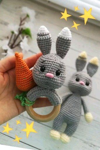 Photo of Amigurumi Bunny Rassel Häkelanleitung