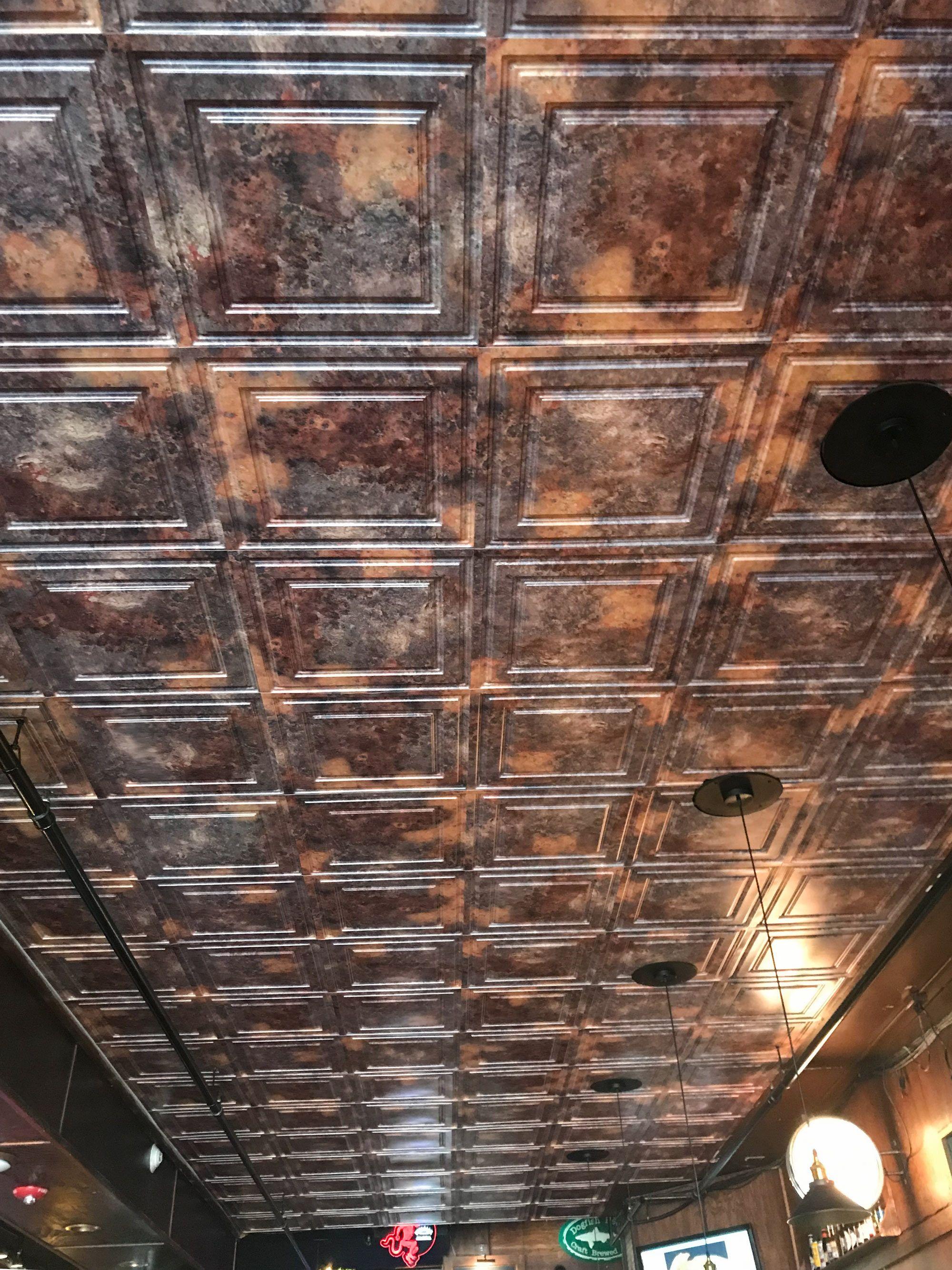 Decorative Ceiling Tiles Basement Ceiling Proceilingtiles Rustic Ceiling Tile Rustic Ceiling Basement Ceiling