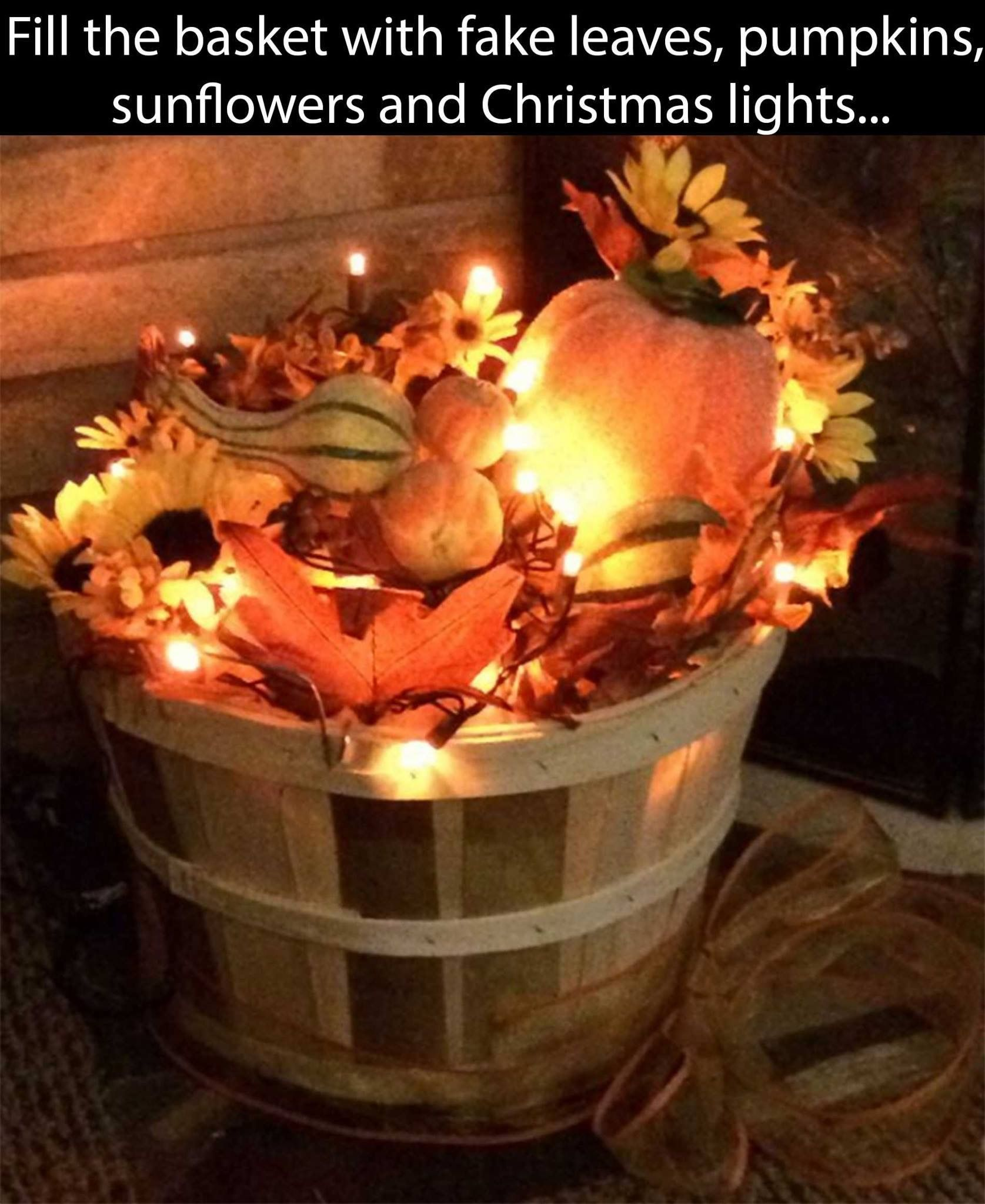 Perfect for the holidays including Halloween!  (board is part of the Contest) The lights bring out the leaves, pumpkins, etc. Perfect to go with Halloween and Fall.