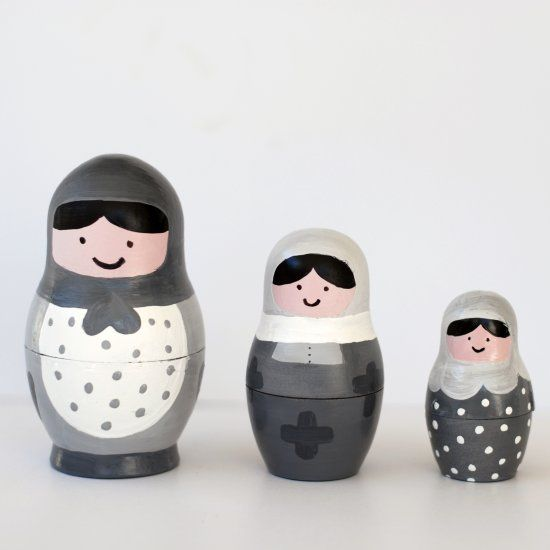 Learn how to customize your very own set of nesting dolls. It's easy and the possibilities are endless!