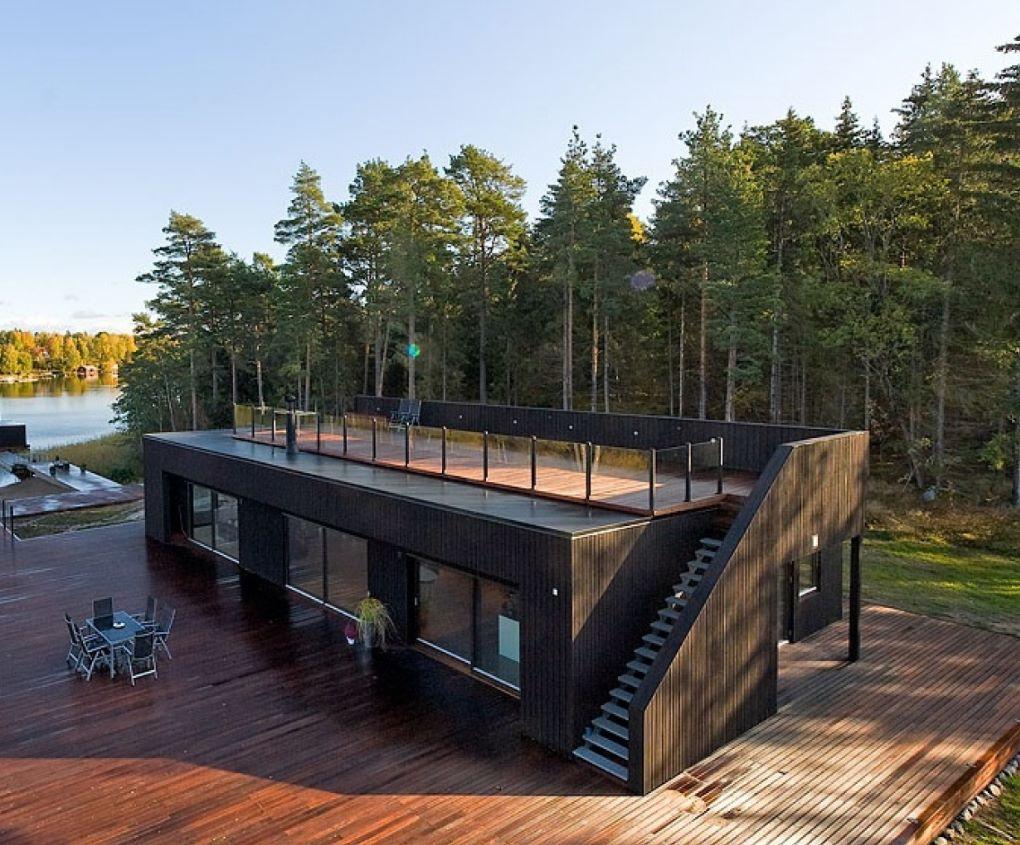 ver fotos de casas hechas con containers container. Black Bedroom Furniture Sets. Home Design Ideas