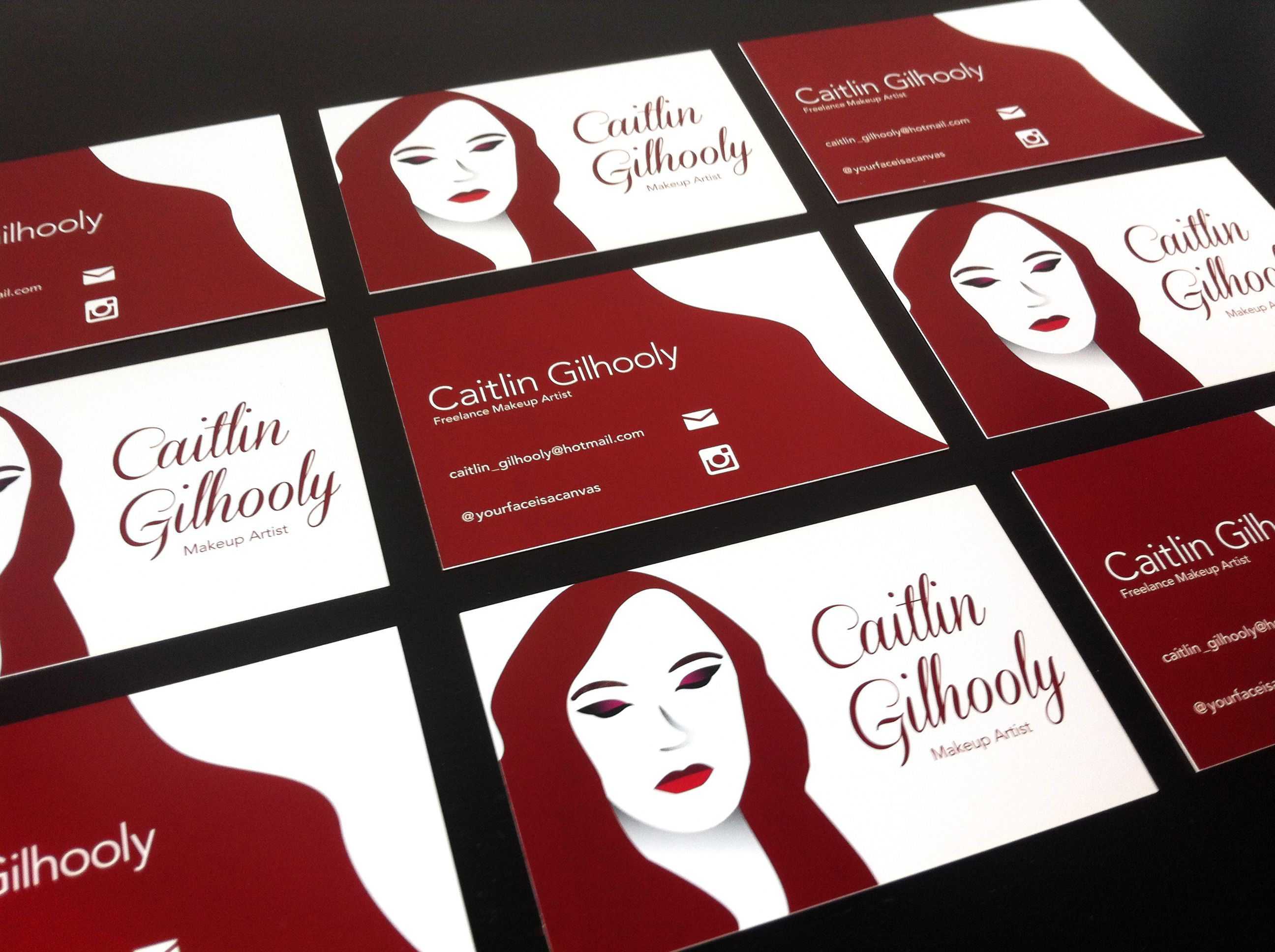 Business Cards For A Freelance Makeup Artist Identity Design