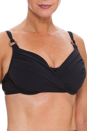 855997037cea5 Black Underwire Bikini Top, 32 back to F cup / Tara Grinna ...
