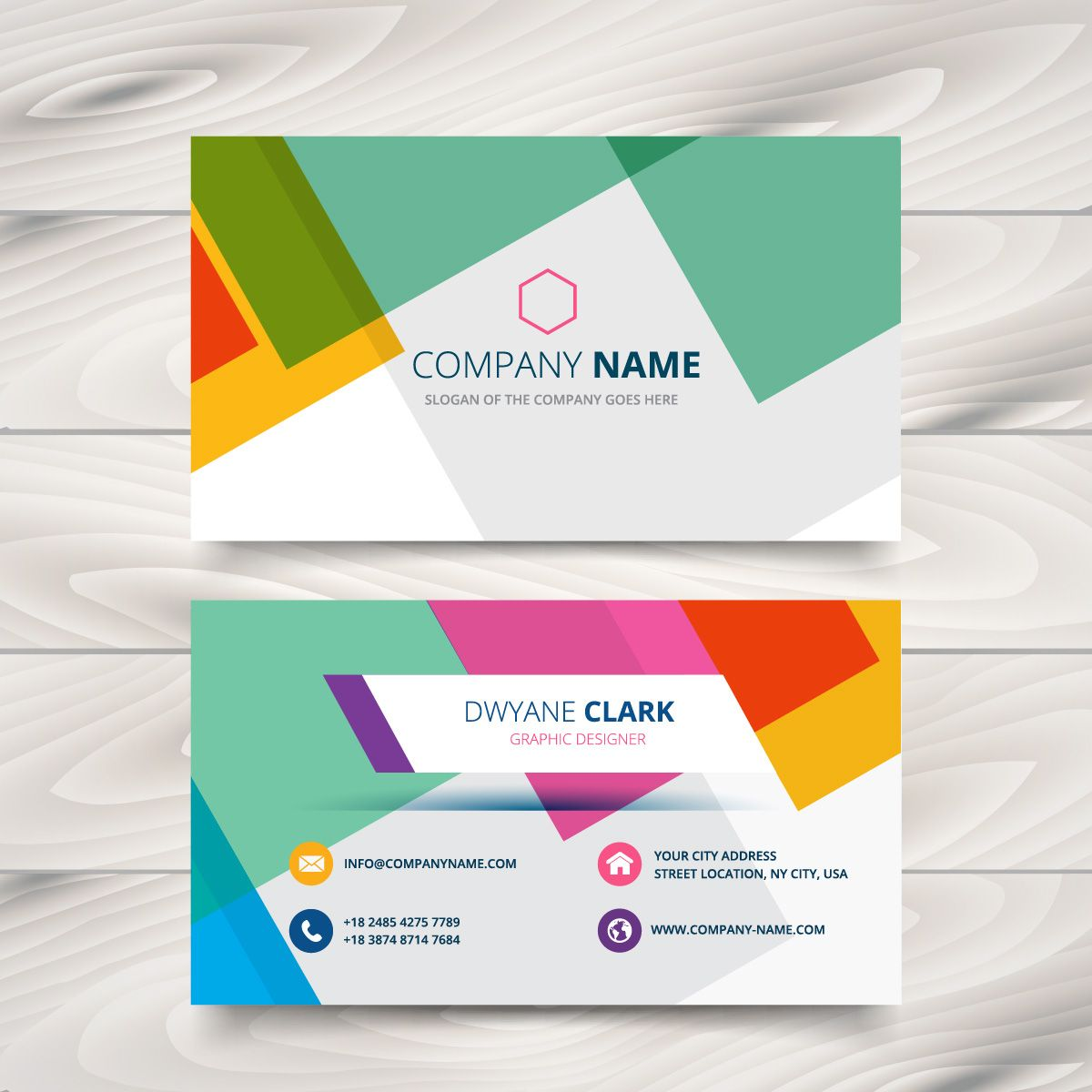 modern colorful business card template | Plantillas | Pinterest ...