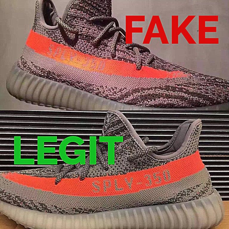 d164afc6452 Fake vs Real Beluga Yeezy Boost 350 V2 (BB1826) Legit Check