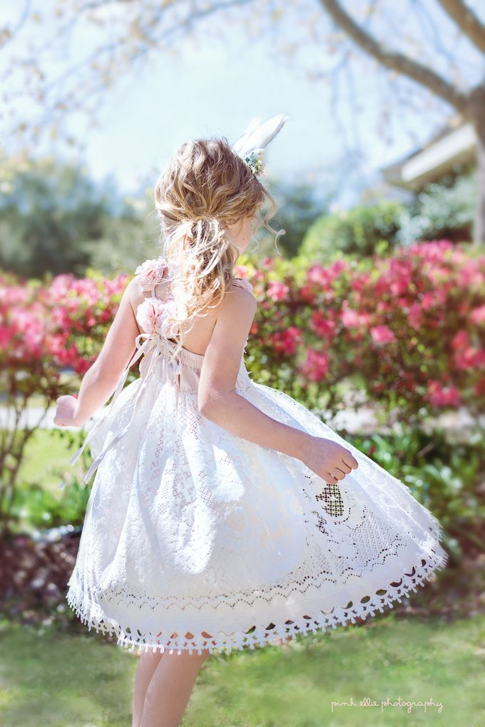 Twirling ~ Easter Spring Photoshoot   www.pinkelliephotography.com  #dollcake #childrensfashion #dress #spring #girl #childphotography  #twirl