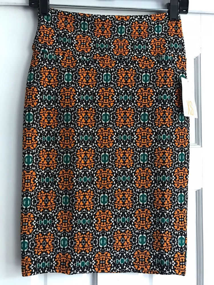 f079fef88c Lularoe XS Cassie Black Orange Cream Green #fashion #clothing #shoes  #accessories #womensclothing #skirts (ebay link)