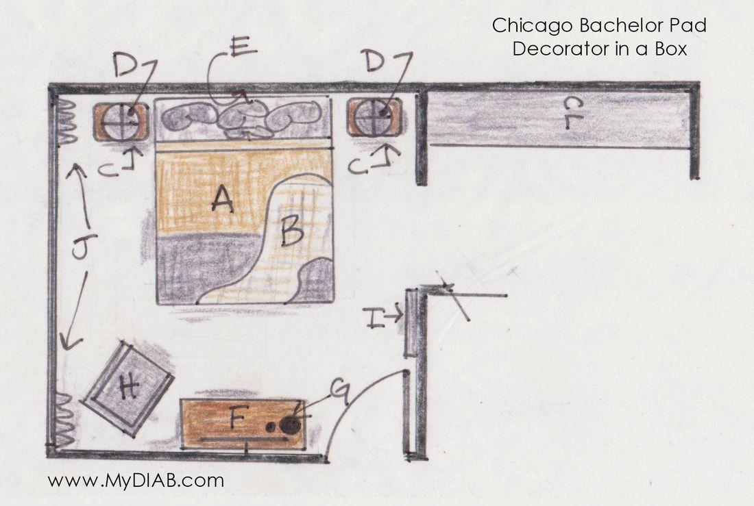 Sneak Peek :: Chicago Bachelor Pad - Decorator in a Box
