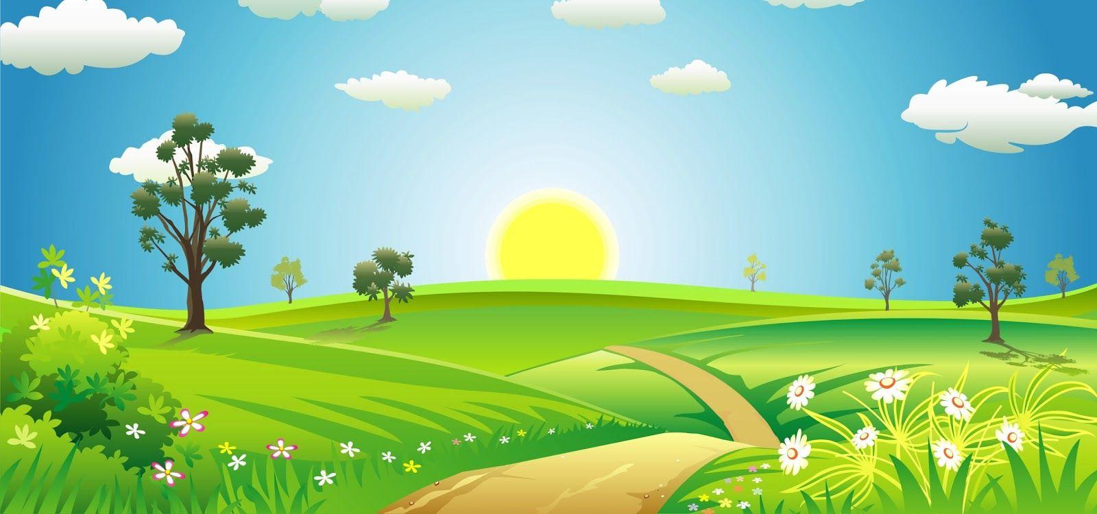 Весенняя лужайка картинка для детей
