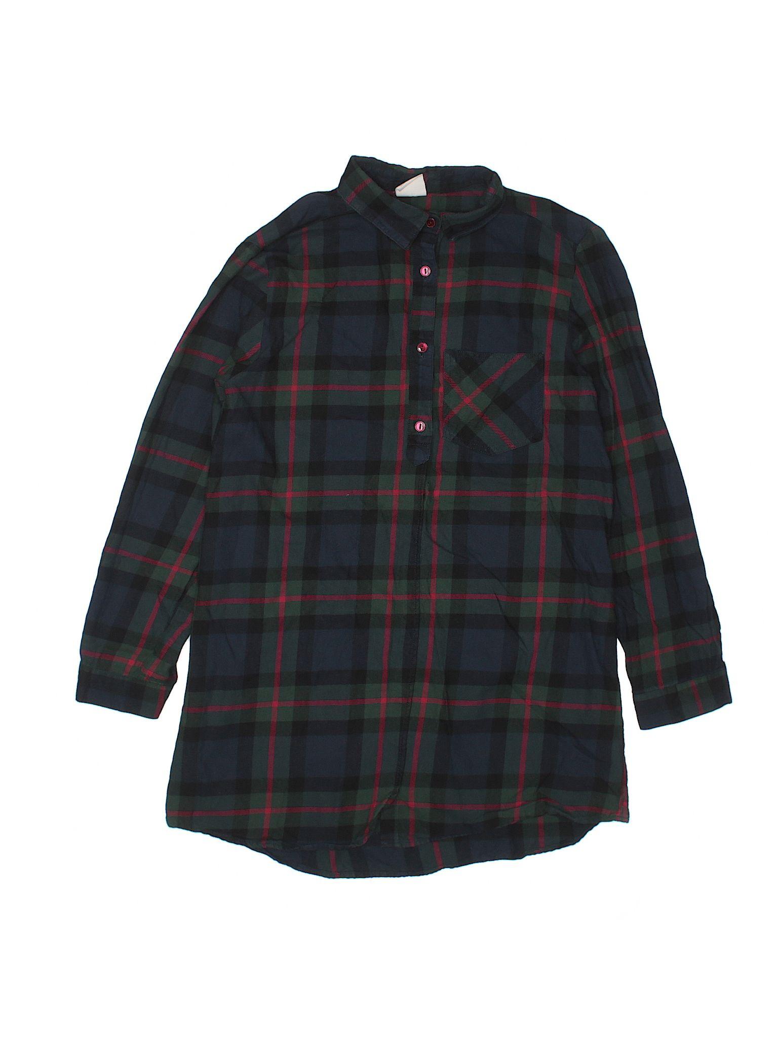 24061e7e Long Sleeve Button-Down Shirt | Products | Green girl, Button down ...